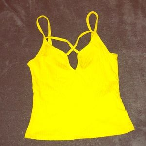 Tops - Yellow crop top